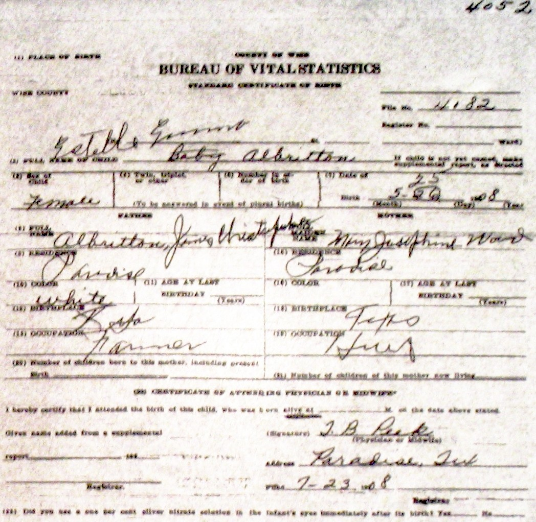 Wise county birth certificates 1900 1930s last names a g alderson blank m 6405 ws william sidney je joe ellen blank blank birthcert 1866g aleman blank m 31404 f m blank blank xflitez Image collections
