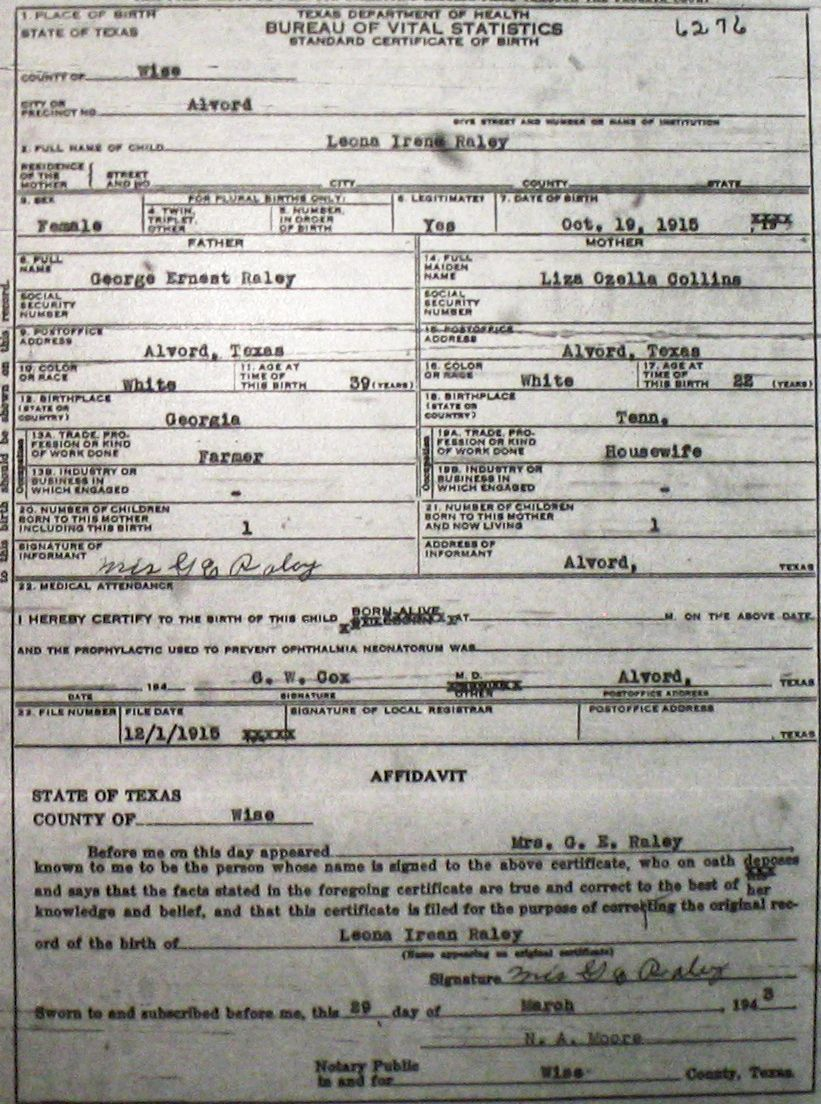 Wise county birth certificates 1900 1930s last names r z birthcert 6276g xflitez Image collections