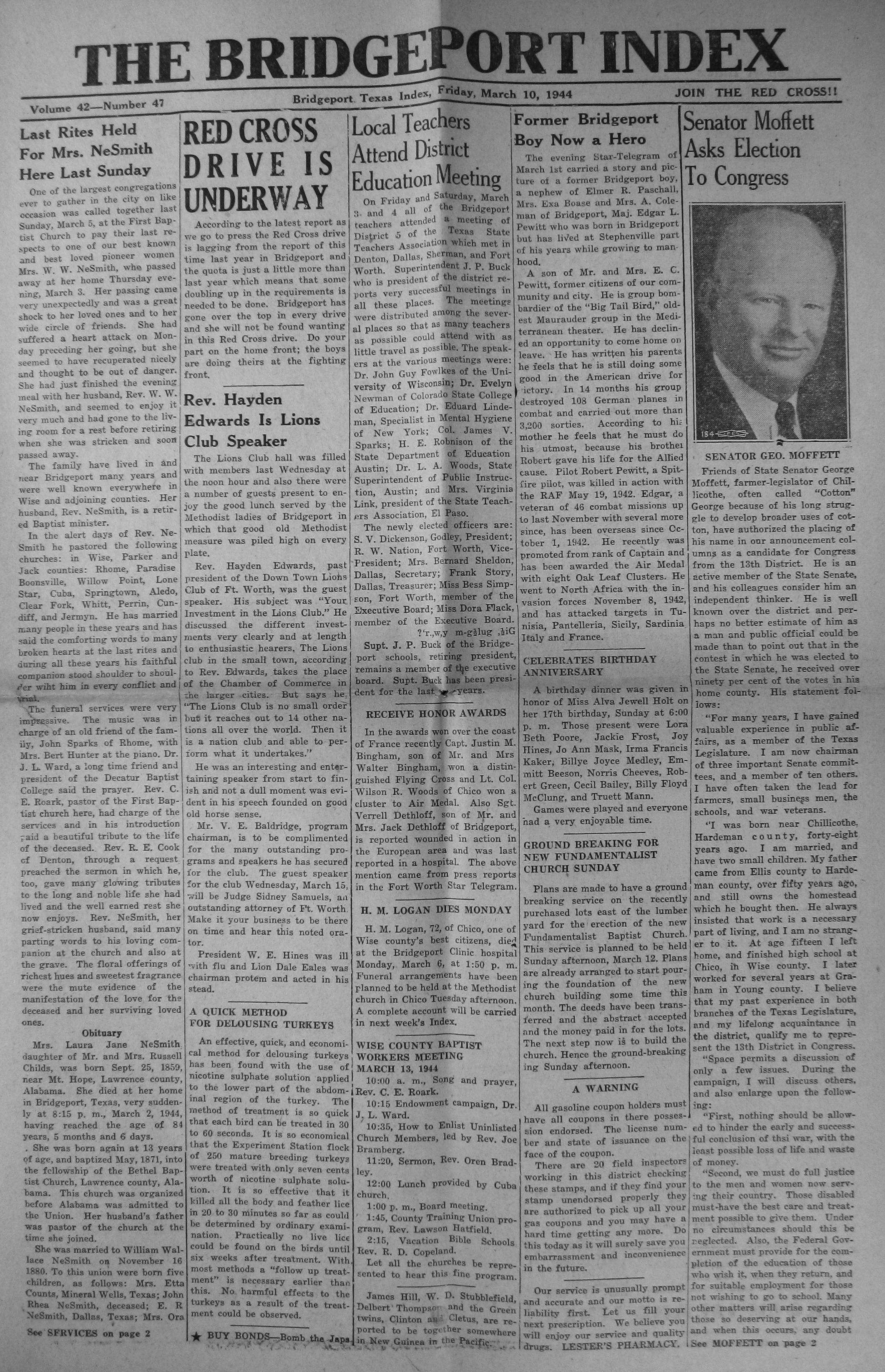 index of s from the bridgeport index newspaper holt dan moody jaunita louise person wedding 1946 09 20 pg06 middot holt danny dale harold birth 1944 02 18 pg01 middot holt jerry randal arthur nelson birth