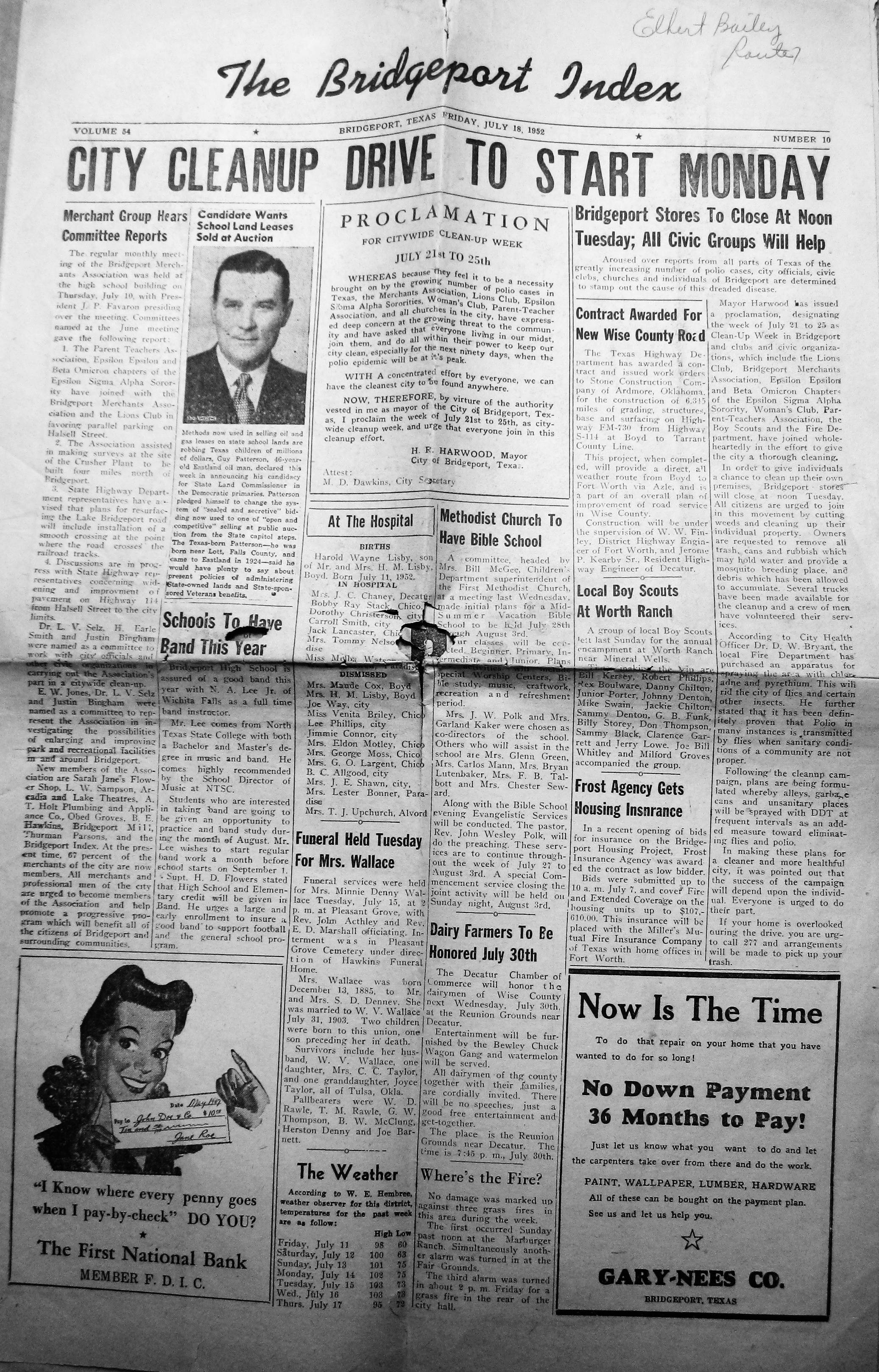 index of s a l from the 1950 1952 bridgeport index newspaper black sammy boy scout annual campout 1952 07 18 pg01