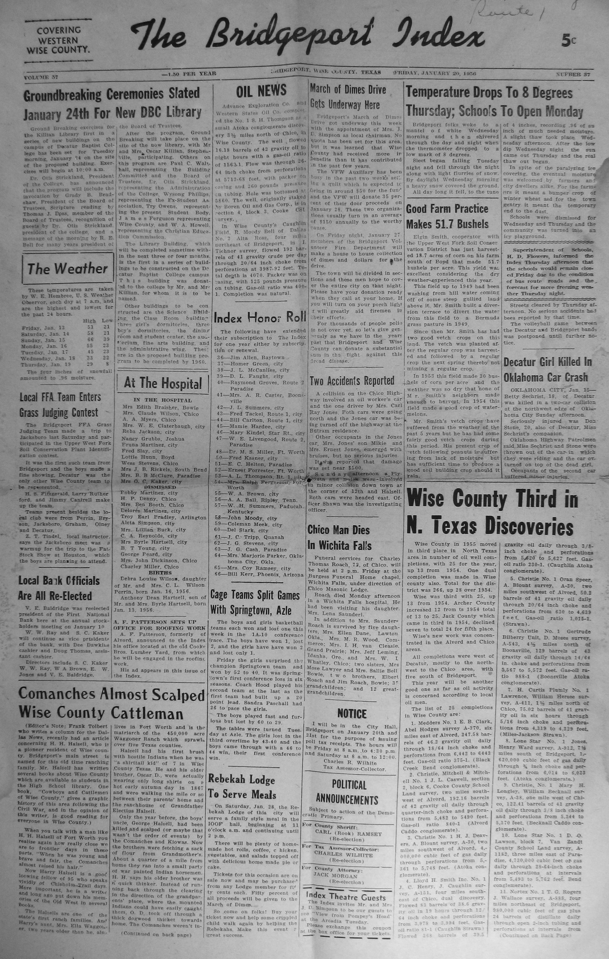 Index of Names (R-Z) from the 1956 Bridgeport Index Newspaper