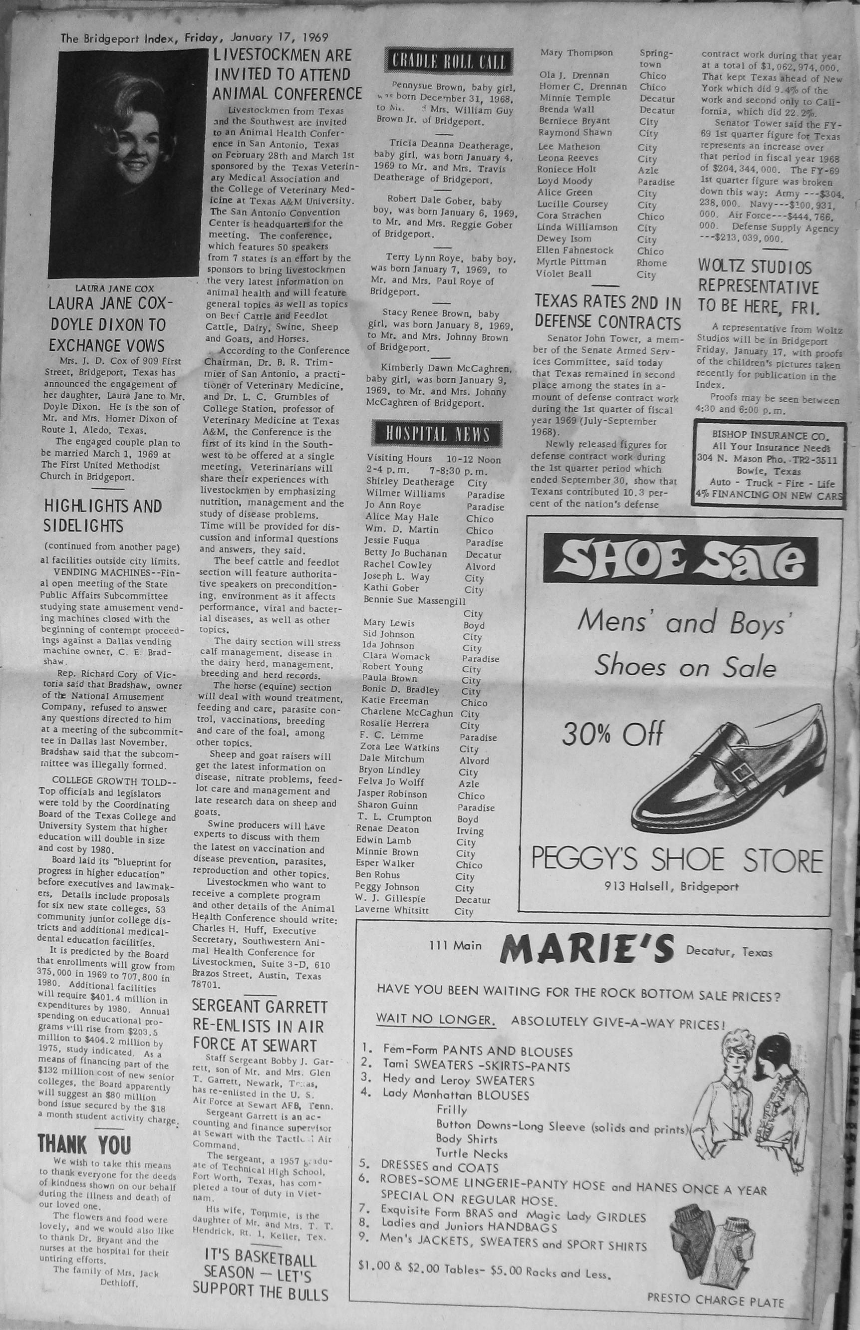 Index of Names R Z from the 1969 Bridgeport Index Newspaper