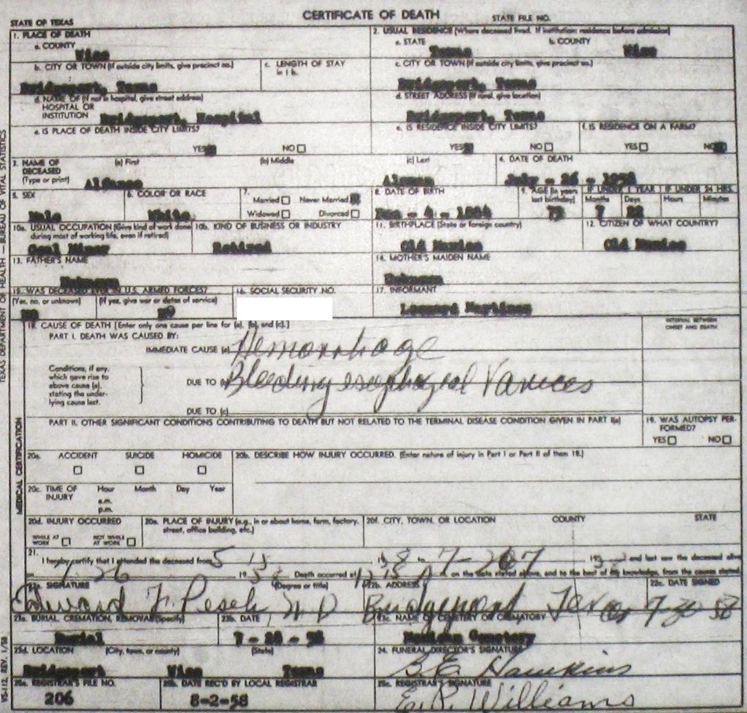 death records sd 1966 james robbins