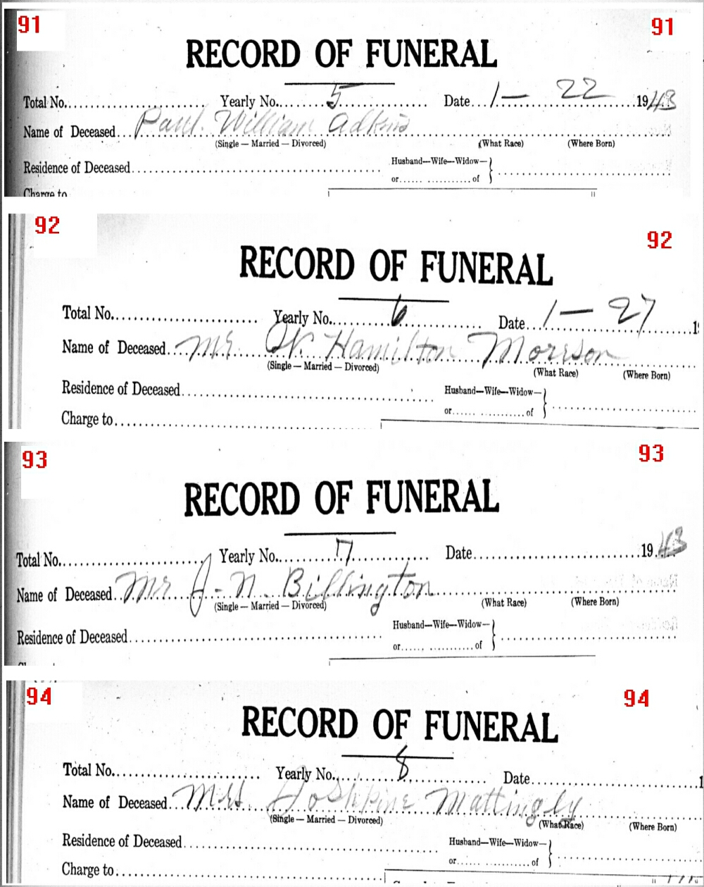 Funeral Records from Wise County TX (1914-2001) With Last Names A-C