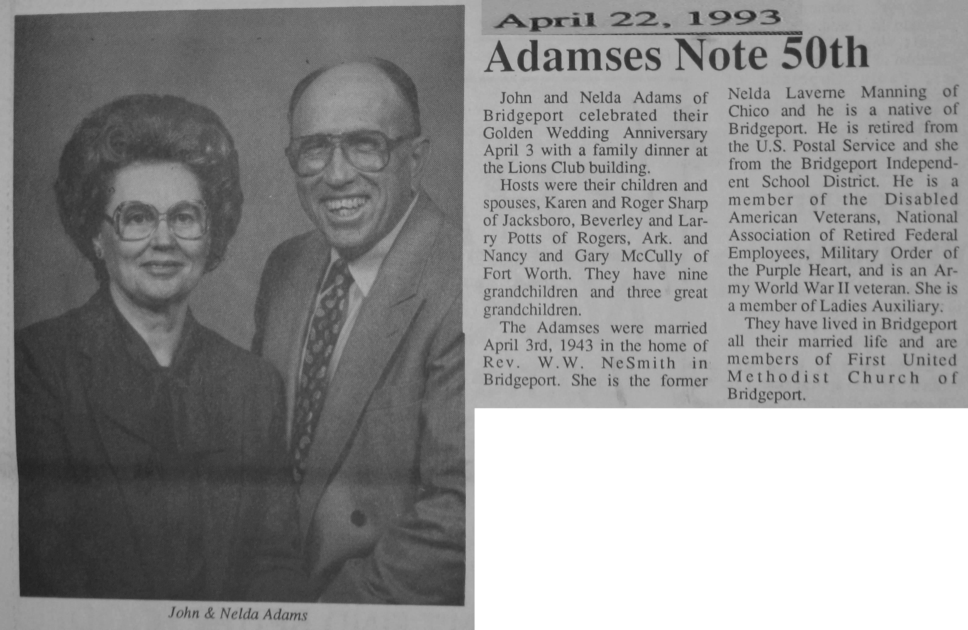 50th Anniversary Newspaper Announcement Examples