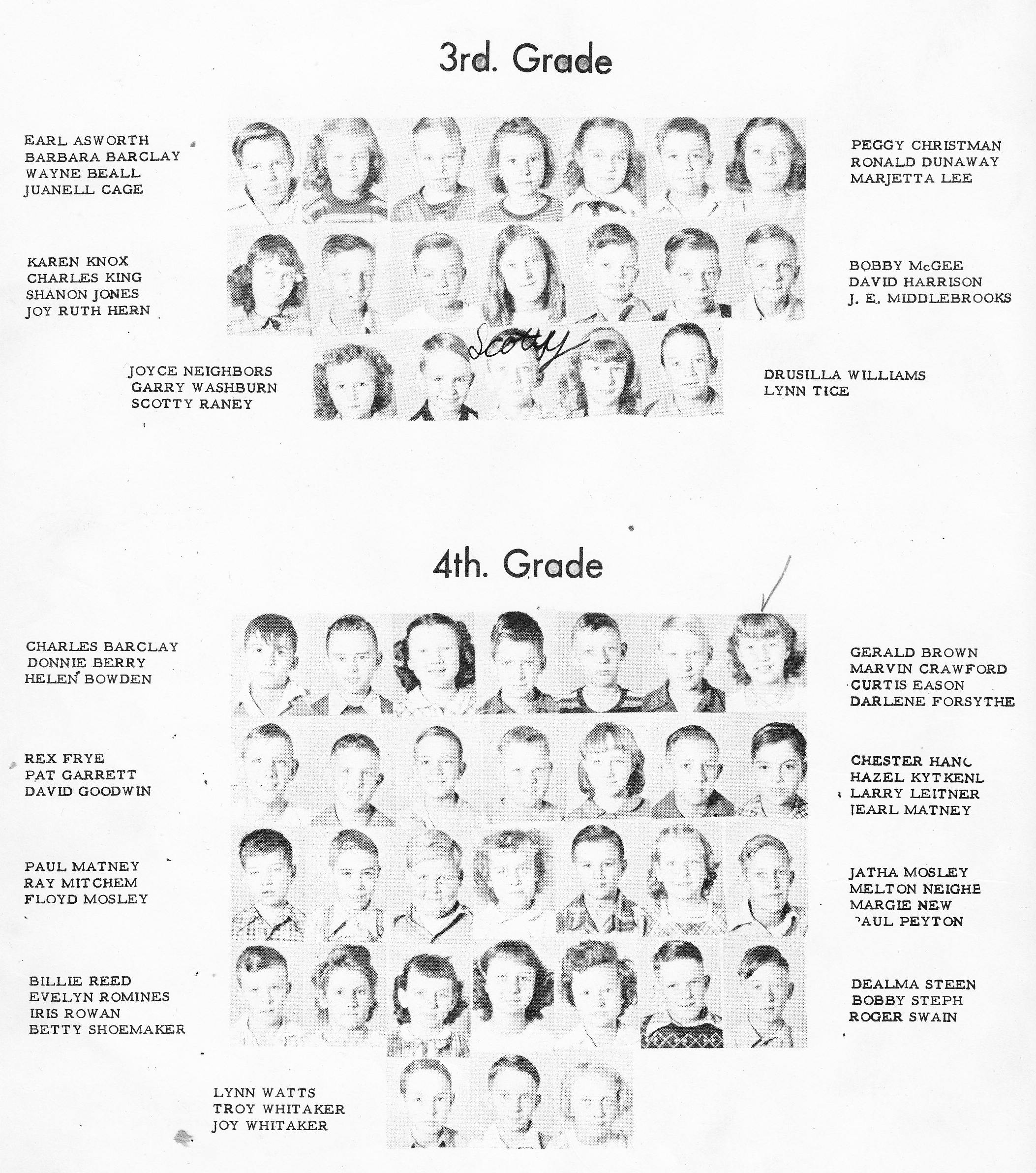 index of s q s for the alvord tx school yearbooks raney scotty 1949 alvord 3rd grade picture
