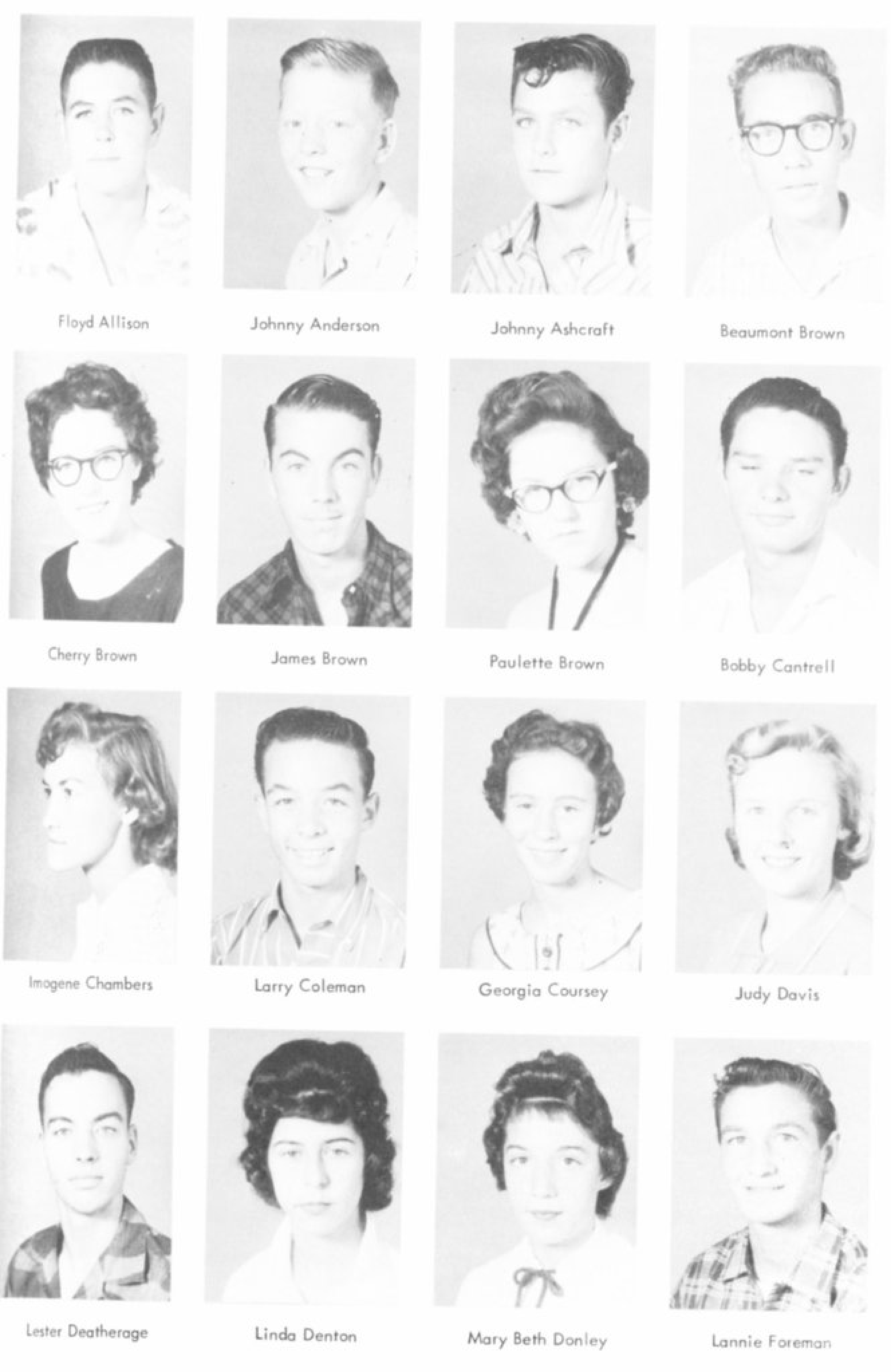 index of s a l for bridgeport tx school yearbooks allison floyd 1958 bhs freshman picture