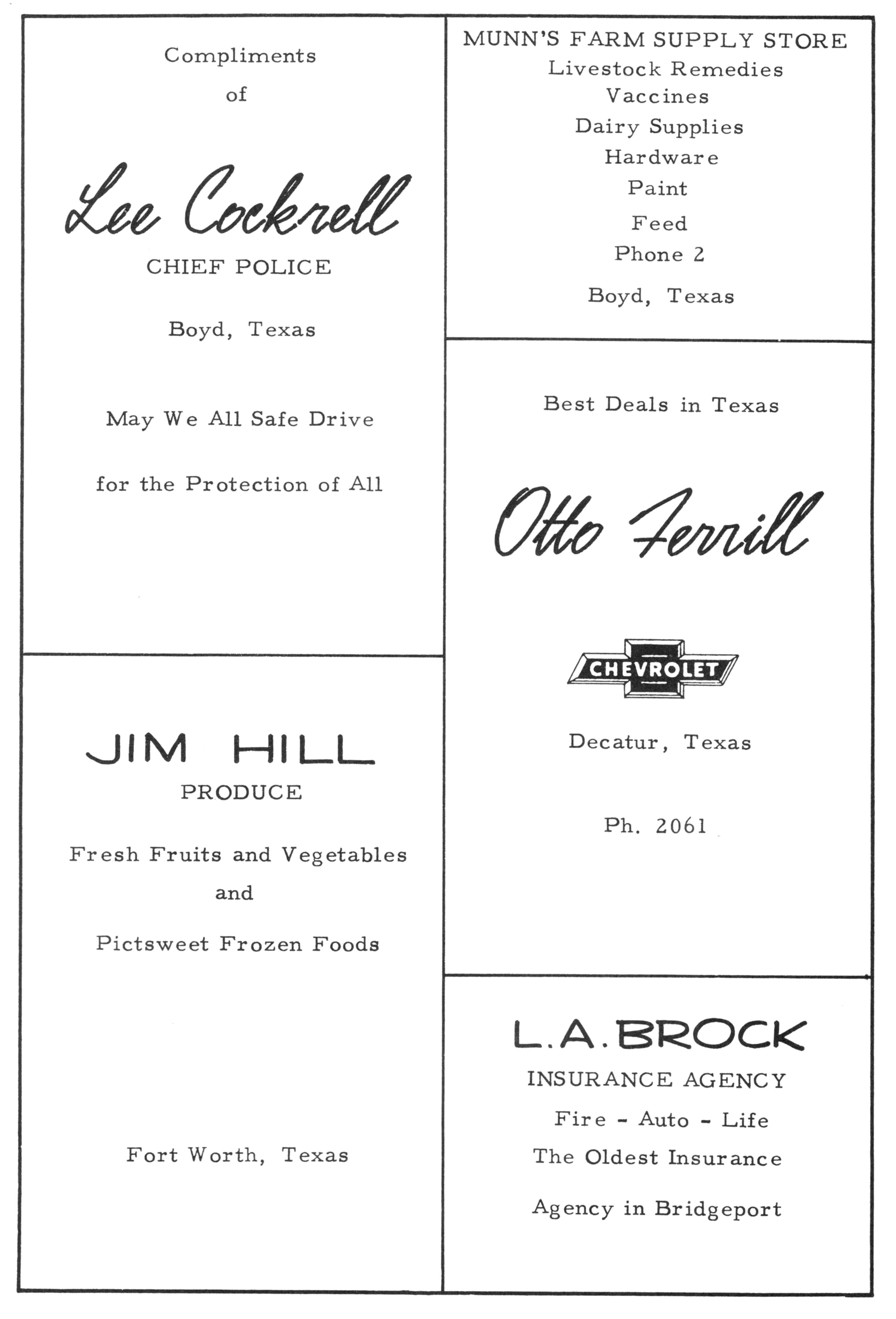 Index of Names L M for the 1940 1979 Paradise TX School Yearbooks